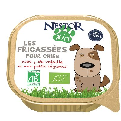 Fricasse Volaille Pour Chien 300 G Nestor Bio