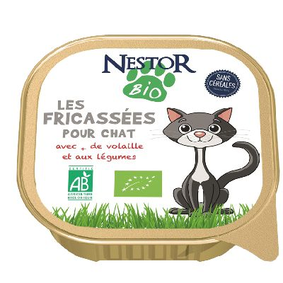 Nestor Bio Fricasse Volaille Chat 100 G