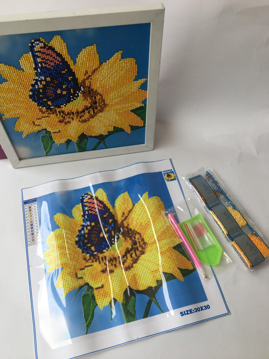 Kit de Pintura con Diamantes 5D - Diamond Paint - Girasol