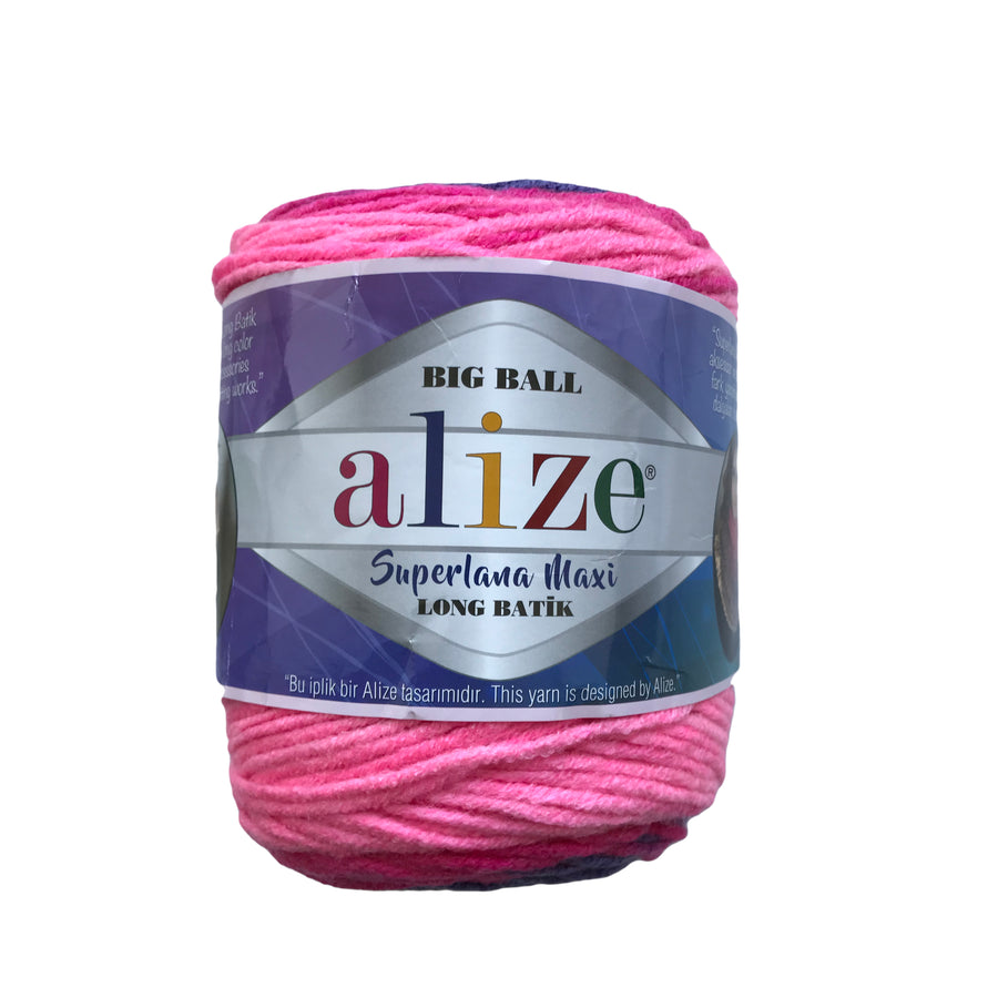 Alize Big Ball Superlana Maxi Long Batik Matizada #6776