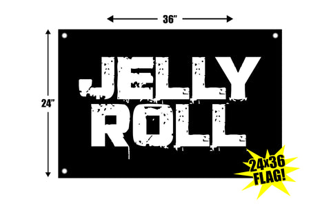Jelly Roll Stamp Logo 24x36 Flag
