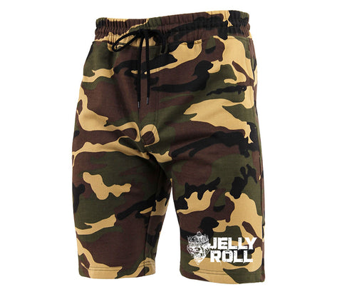 Jelly Roll Logo Camo Sweat Shorts