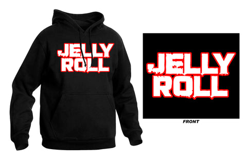 Embroidered Jelly Roll Text Hoodie