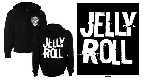 Jelly Roll Stamp Logo Zip Up Hoodie
