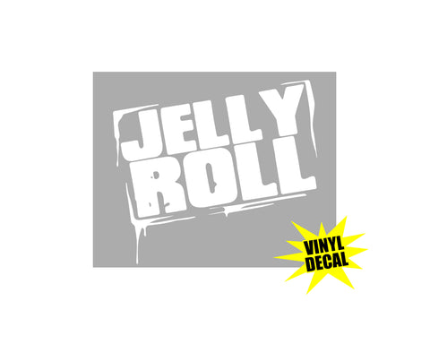 "Jelly Roll Stamp 6"" Vinyl Decal Stacked"
