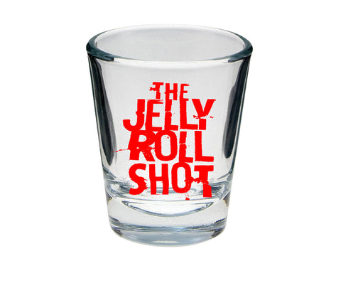 The Jelly Roll Shot Oversized 4 oz. Shot Glass - RED Print