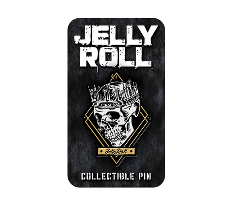 Jelly Roll Skull Hat Pin