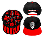 Jelly Roll Skull Black and Red Snap Back Hat
