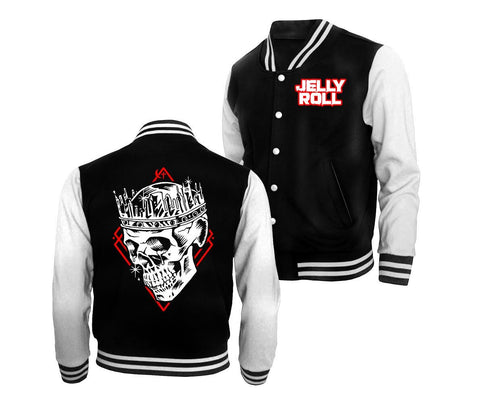 Jelly Roll Skull Letterman Jacket