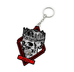 Jelly Roll Skull Die Cut Key Chain