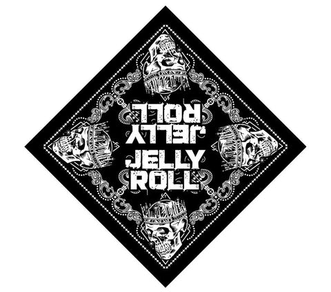 Jelly Roll Skull Bandana