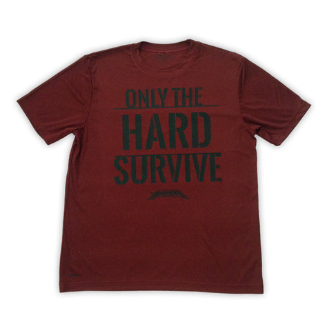 Only The HARD Survive - Zero Gravity - Black On Red