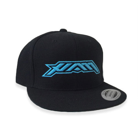 HAM Flat Bill Snapback Black & Teal