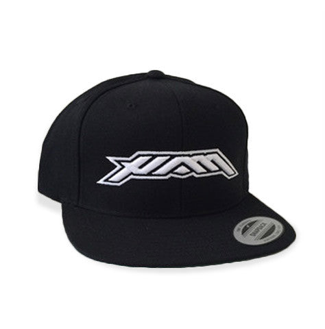 HAM - Flat Bill Snapback - Black/White