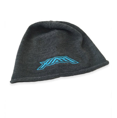 HAM -Oversized Knit Beanie - Grey/Teal