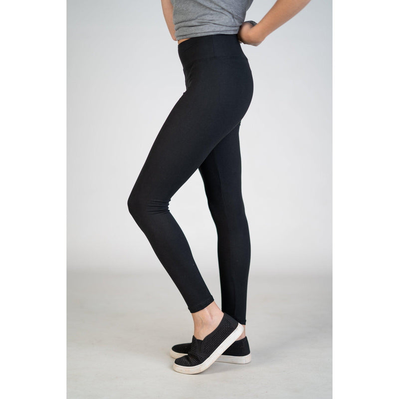 High Waist Yoga Band Leggings in REGULAR (Black,Charcoal, or Navy) - Texas Two Boutique
