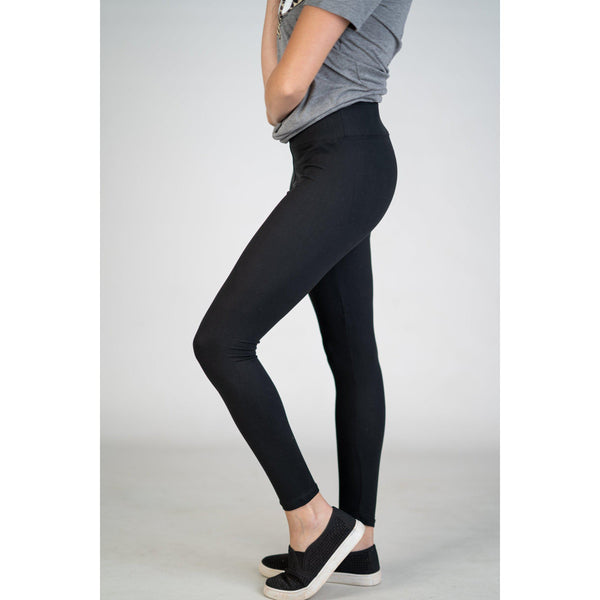 Love it Womens High Waist Yoga Band Leggings in PLUS (Black or Charcoal)