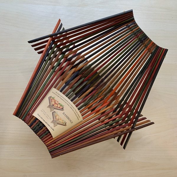 Chopstick Folding Basket - Large - Multicolor