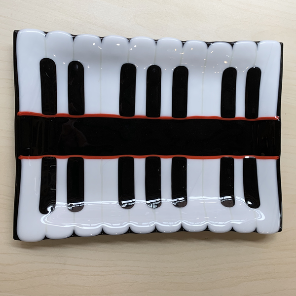 Plate - #1 Piano Keys - 7x10 inches