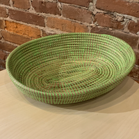 Oval Table Basket - Green Apple
