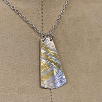 Silver Necklace with Gold Leaf