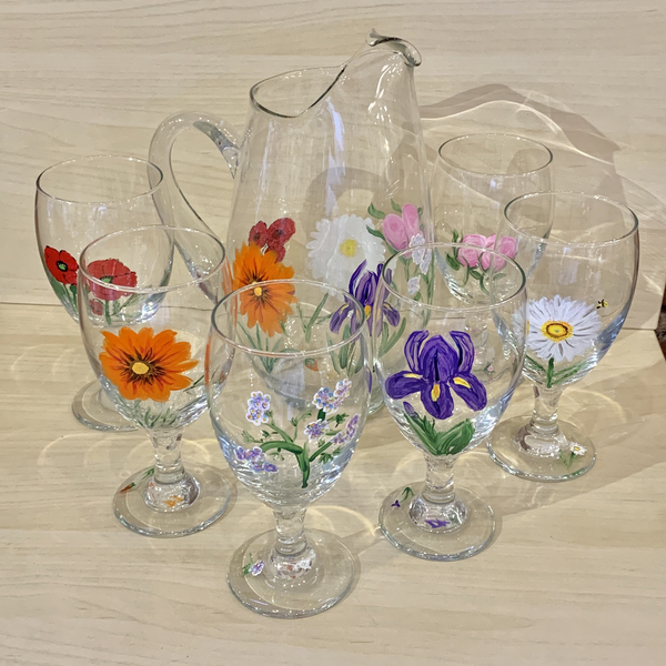 Pitcher with 6 Glasses - Set