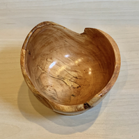 Live Edge Bowl - Spalted Maple #5