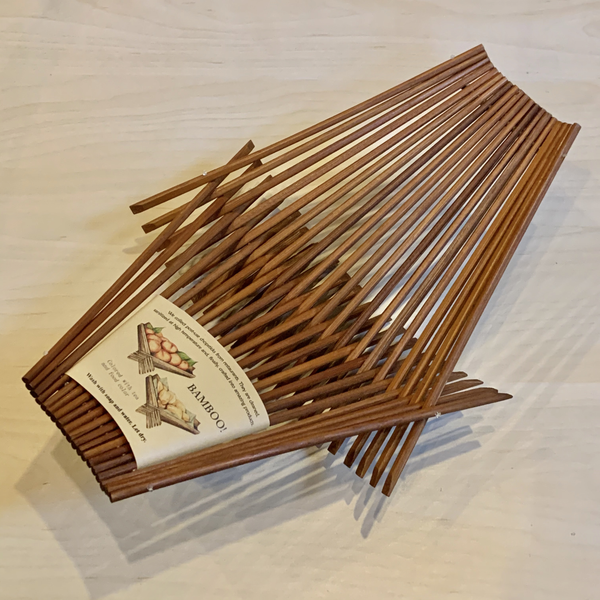 Chopstick Folding Basket - Medium - Dark Tea Stained