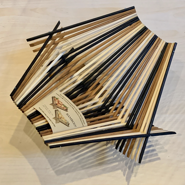 Folding Chopstick Basket - Large - Tri Tone Black