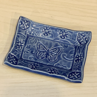 Soap Dish - Blue Butterfly