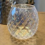 Faceted Glass Votive Holder - Clear