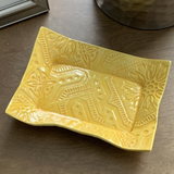 Ceramic Tray - Yellow Tin Ceiling
