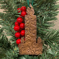 Peace Candle Ornament - Rolled Copper
