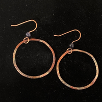 Torched Copper Earrings #20