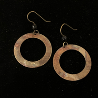 Torched Copper Earrings #30