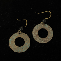 Torched Copper Earrings #42