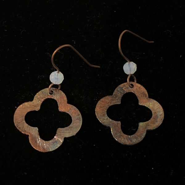 Torched Copper Earrings #29