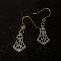 Torched Copper Earrings #43
