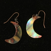 Torched Copper Earrings #40