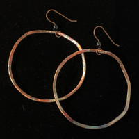 Torched Copper Earrings - #44