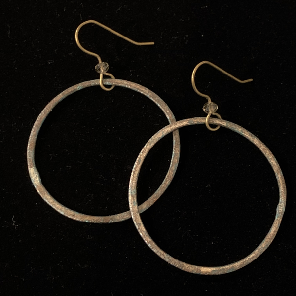 Torched Copper Earrings - #16