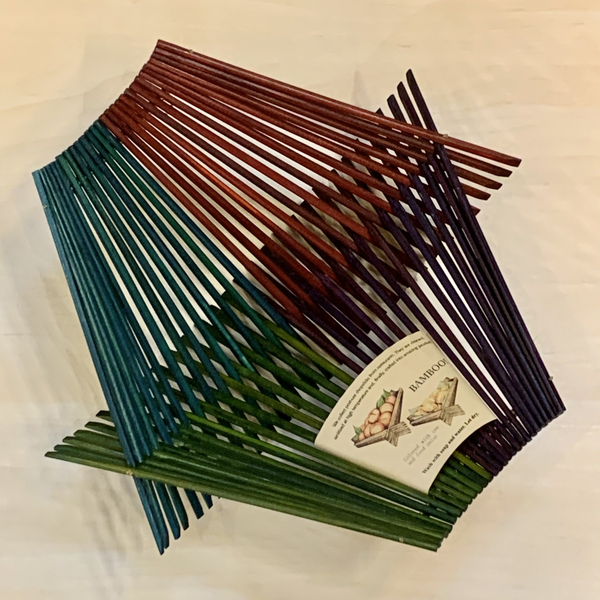 Chopsticks Folding Basket -4 Square 4 Colors - Large