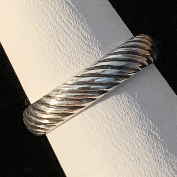 Silver Ring - Patterned - Style D