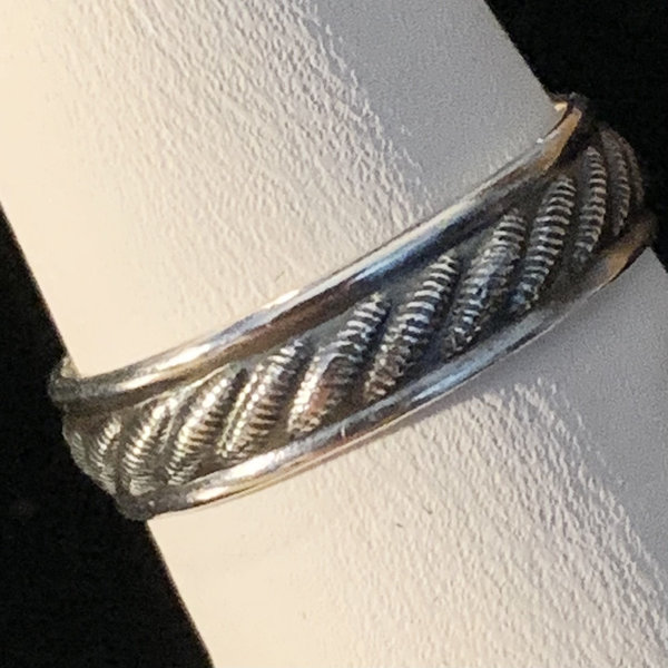 Silver Ring - Patterned - Style F