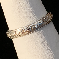 Silver Ring - Patterned - Style J
