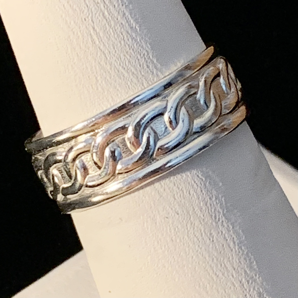 Silver Ring -Patterned - Style K