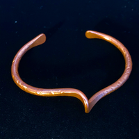 Copper Bracelet - Hammered with a Twist