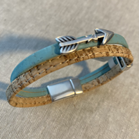 Cork Bracelet with Arrow