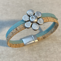 Cork Bracelet with Daisy