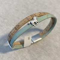 Cork Bracelet with Small Horse